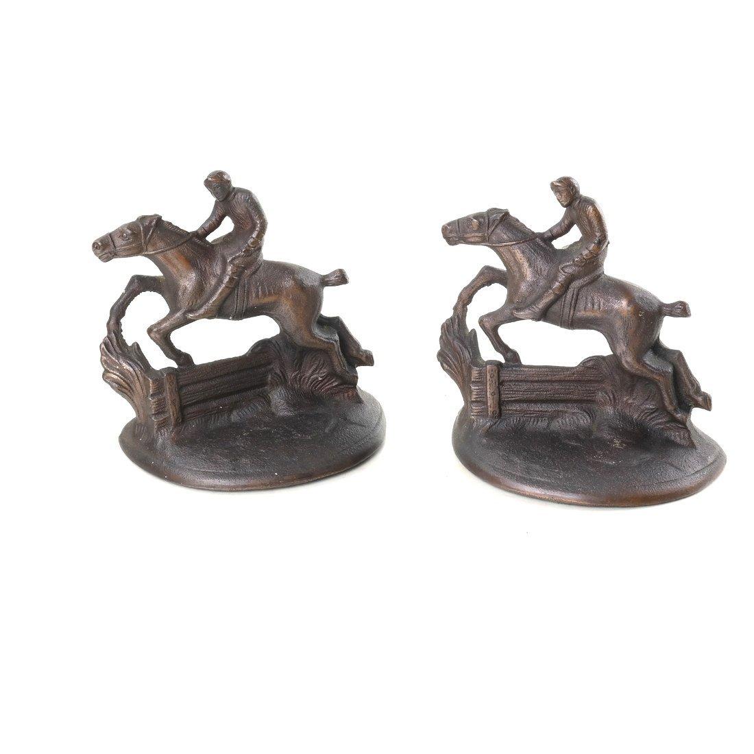Four Cast Iron Horse Figures - 9