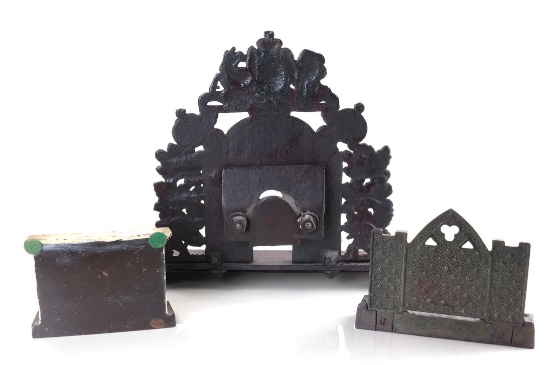 Three Cast Metal Architectural Bookends/ - 2