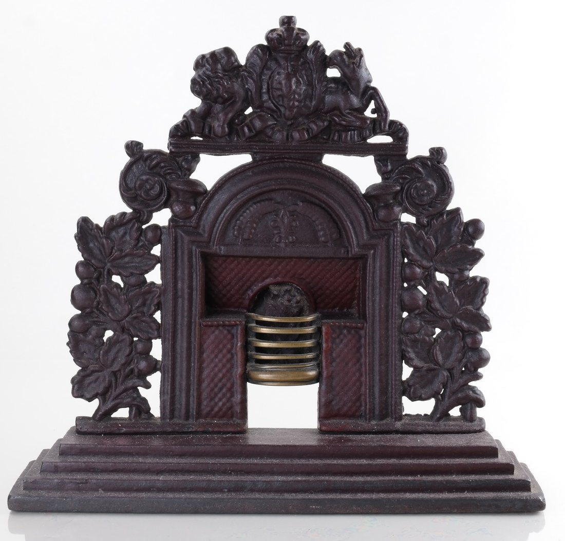 Three Cast Metal Architectural Bookends/ - 4