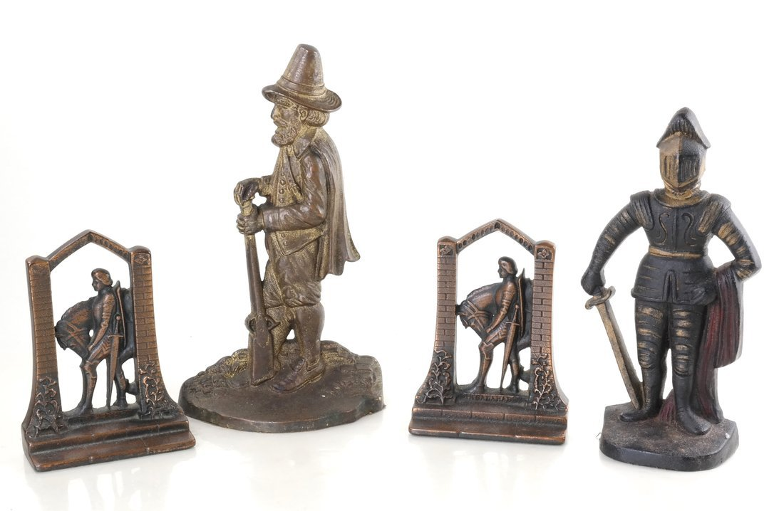 Four Cast Iron Doorstops/Bookends