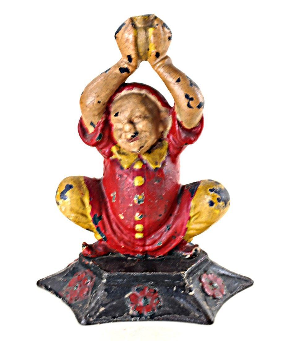 Three Cast Iron Asian Inspired Figures - 2