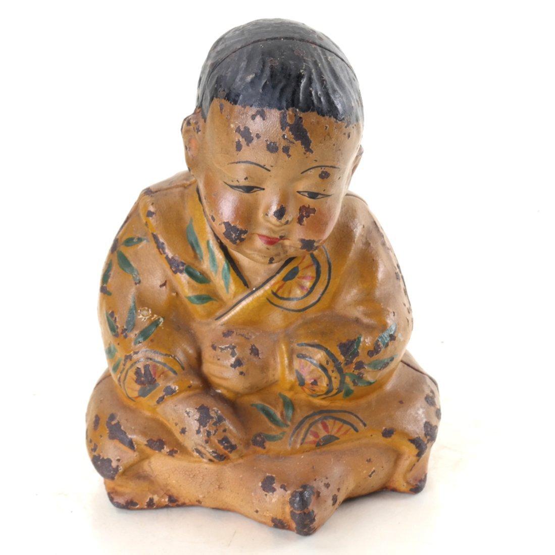 Three Cast Iron Asian Inspired Figures - 4