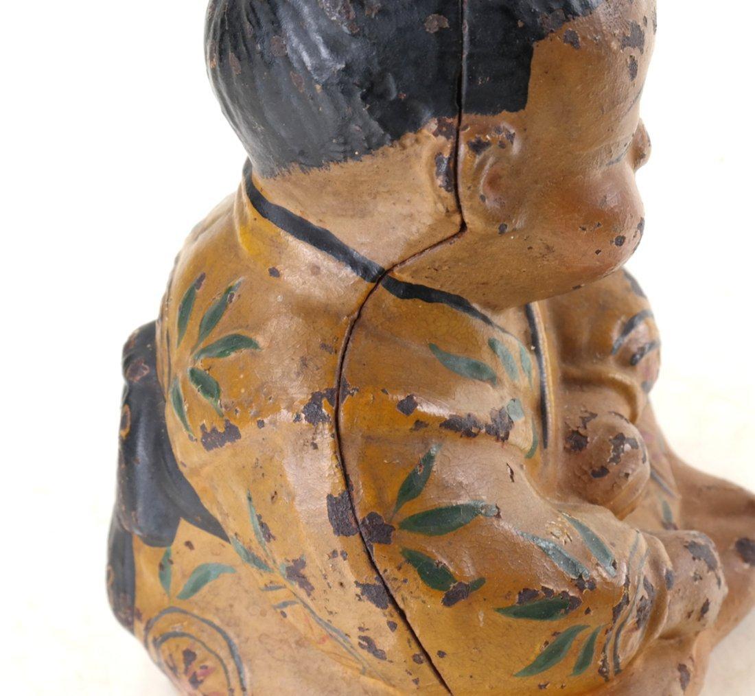 Three Cast Iron Asian Inspired Figures - 5