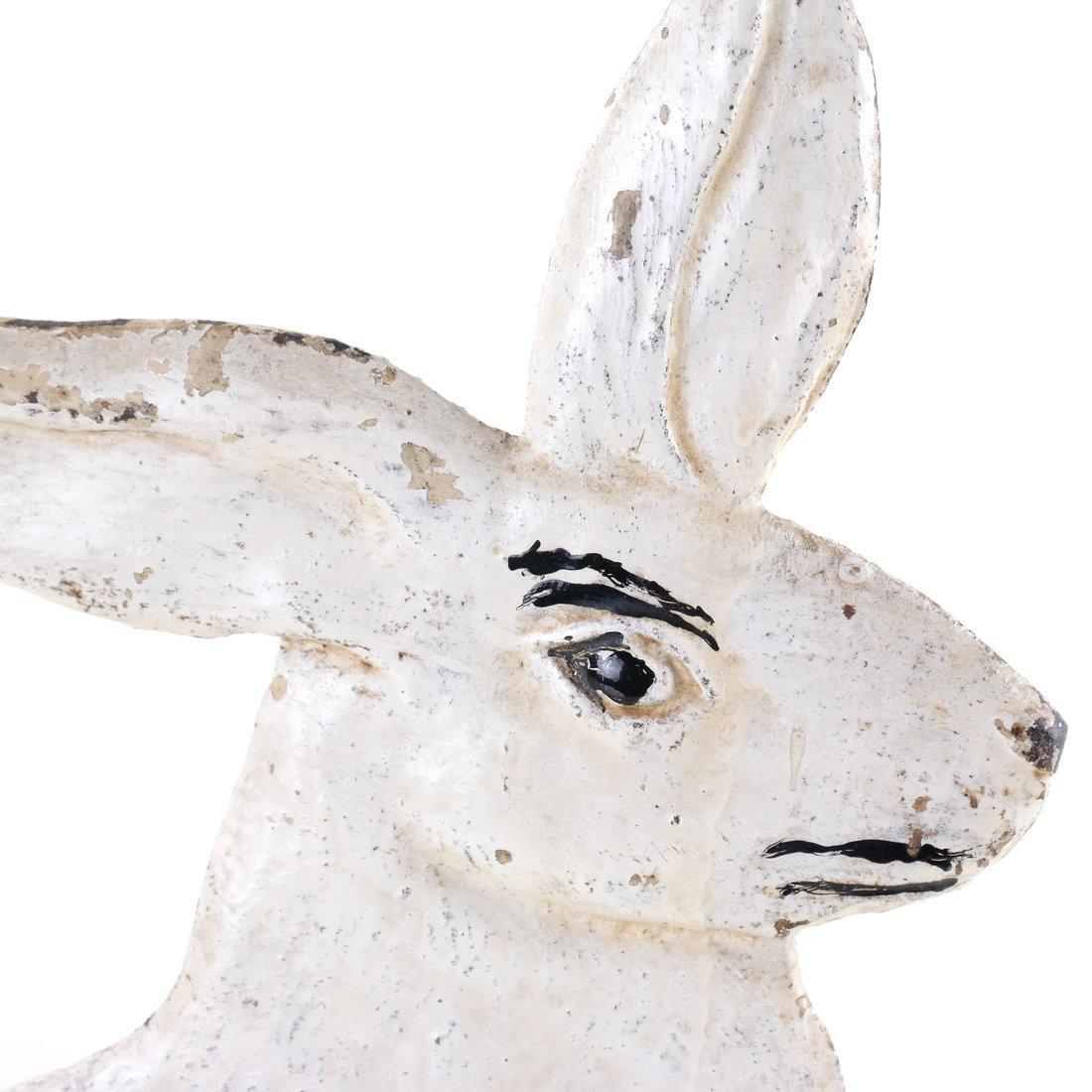 Painted Cast Iron Rabbit Doorstop - 6