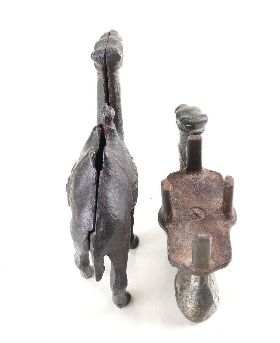 Seven Cast Metal Camel Figures - 2