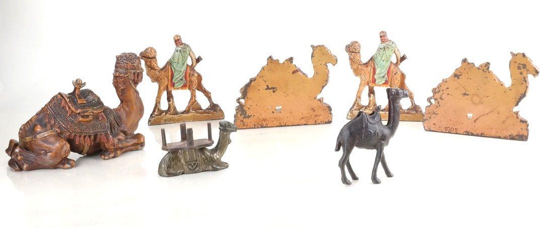 Seven Cast Metal Camel Figures - 3