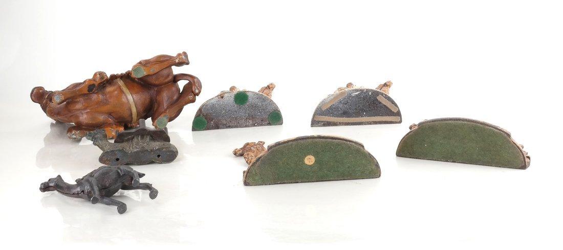 Seven Cast Metal Camel Figures - 5