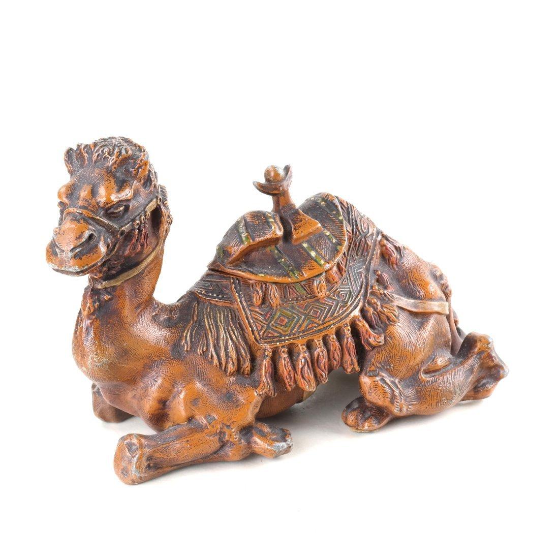 Seven Cast Metal Camel Figures - 6