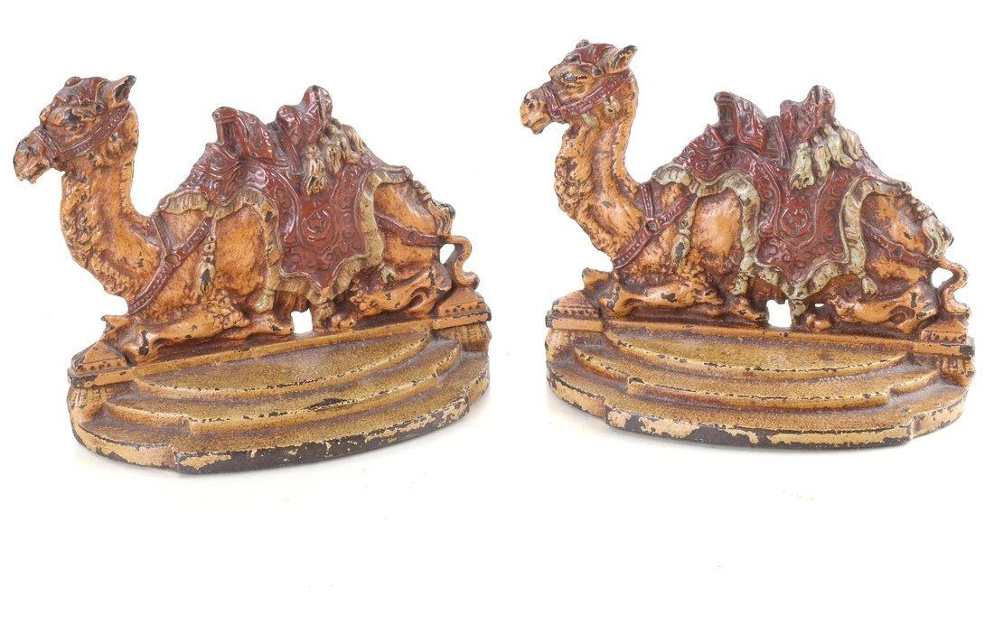 Seven Cast Metal Camel Figures - 8