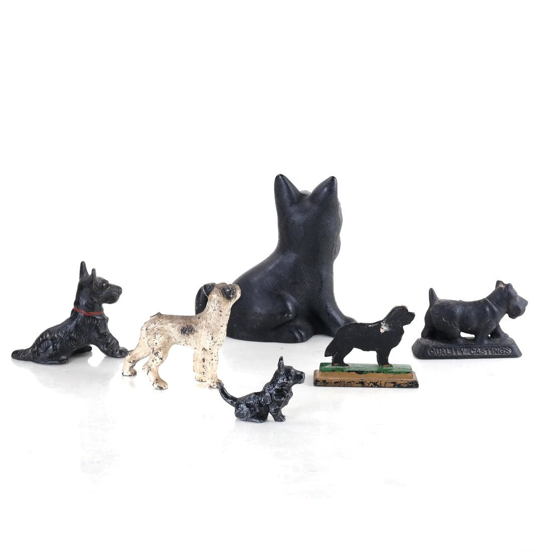 Six Painted Cast Iron Various Dogs - 3