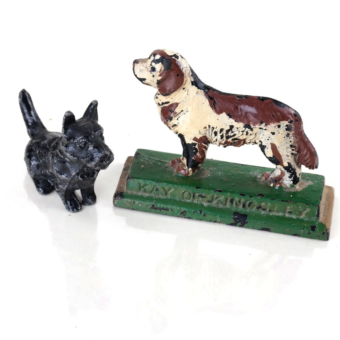 Six Painted Cast Iron Various Dogs - 8