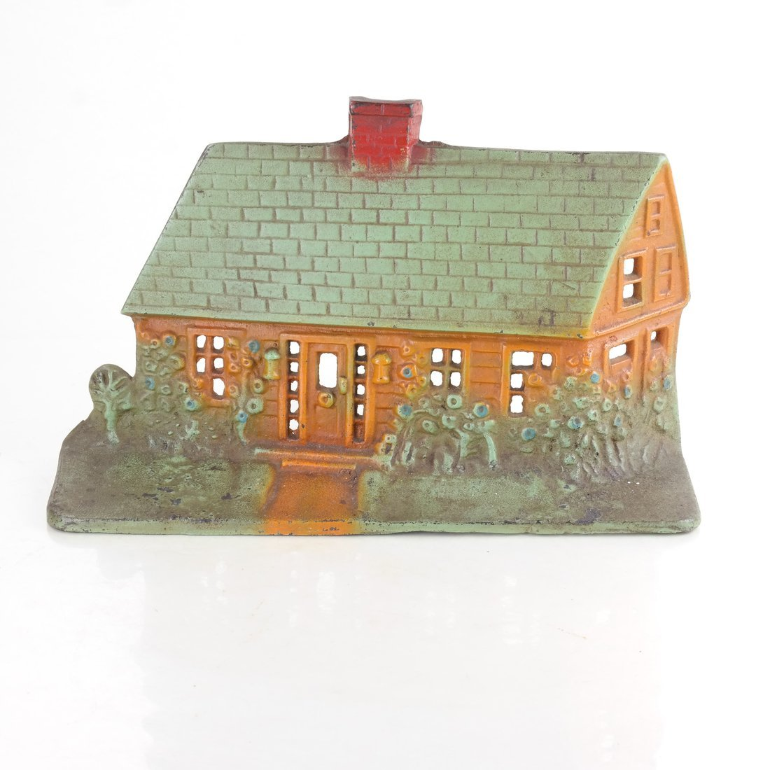 Painted Cast Iron Cottage Doorstop