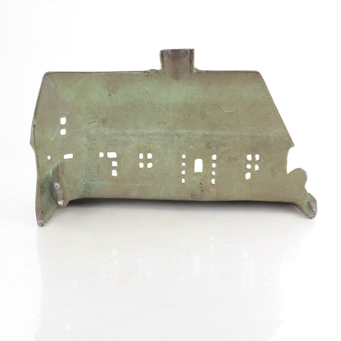 Painted Cast Iron Cottage Doorstop - 2