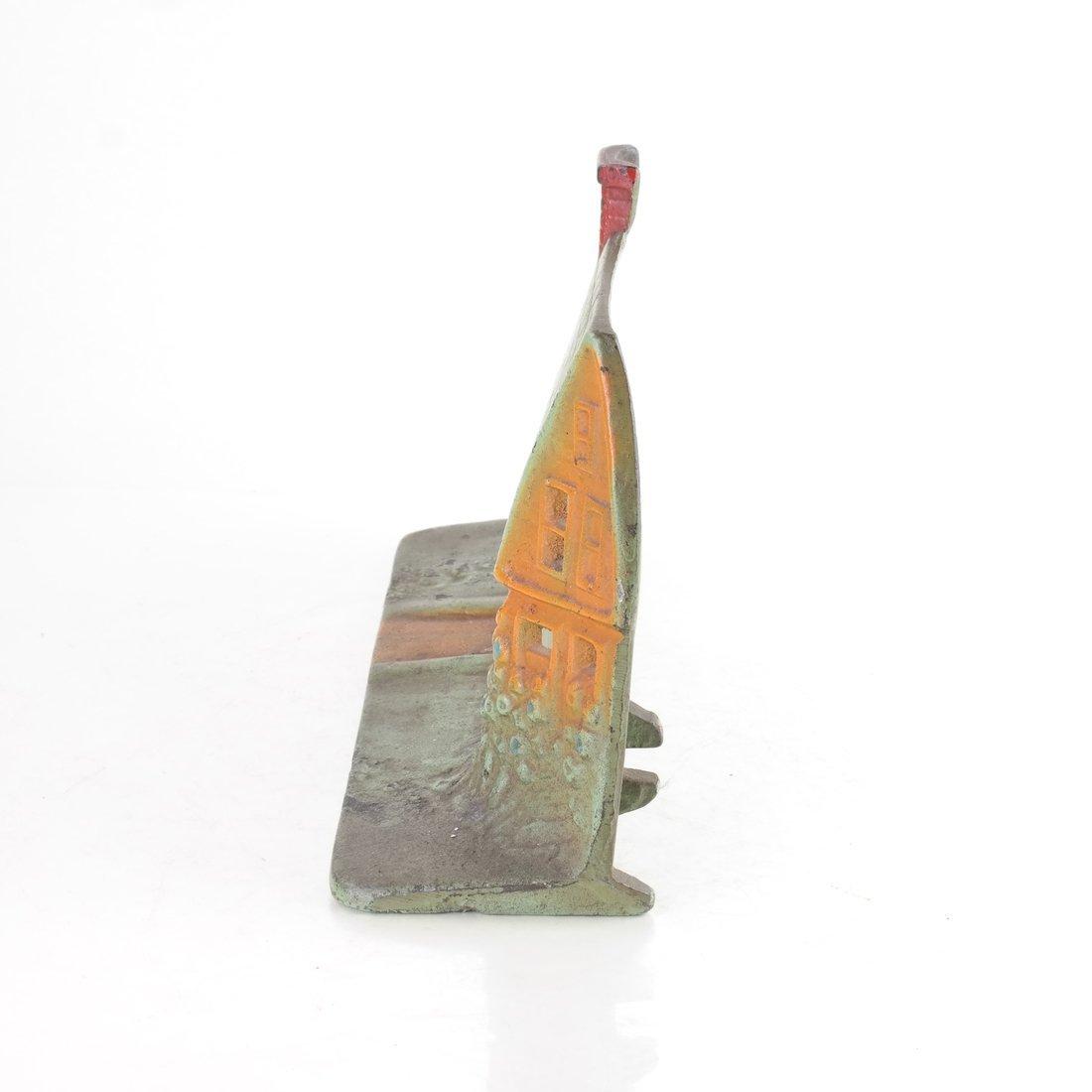 Painted Cast Iron Cottage Doorstop - 3