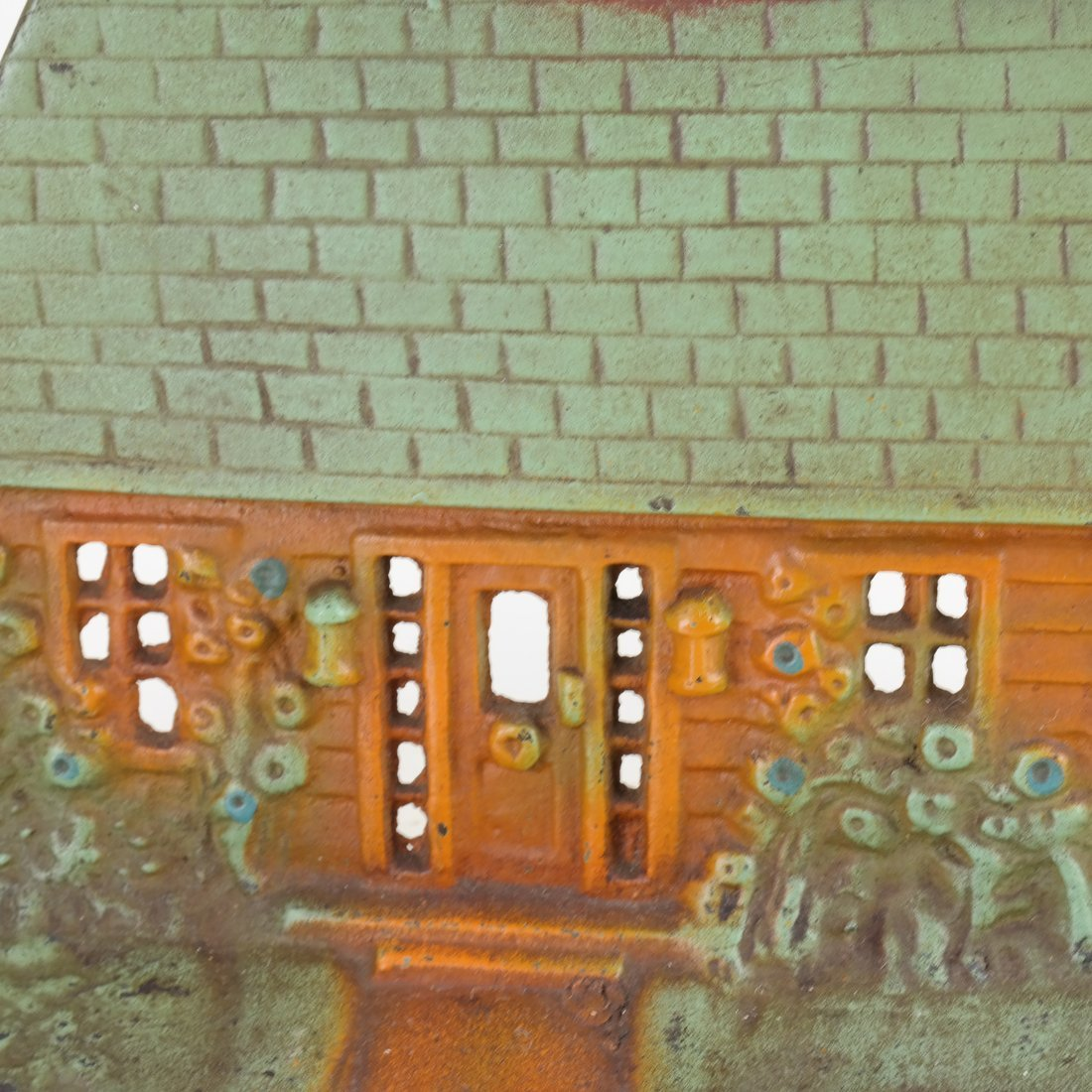 Painted Cast Iron Cottage Doorstop - 6