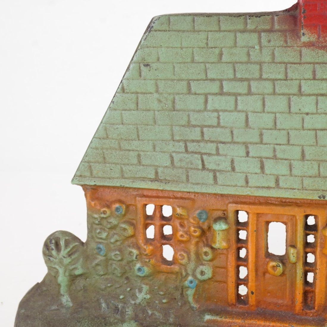 Painted Cast Iron Cottage Doorstop - 7