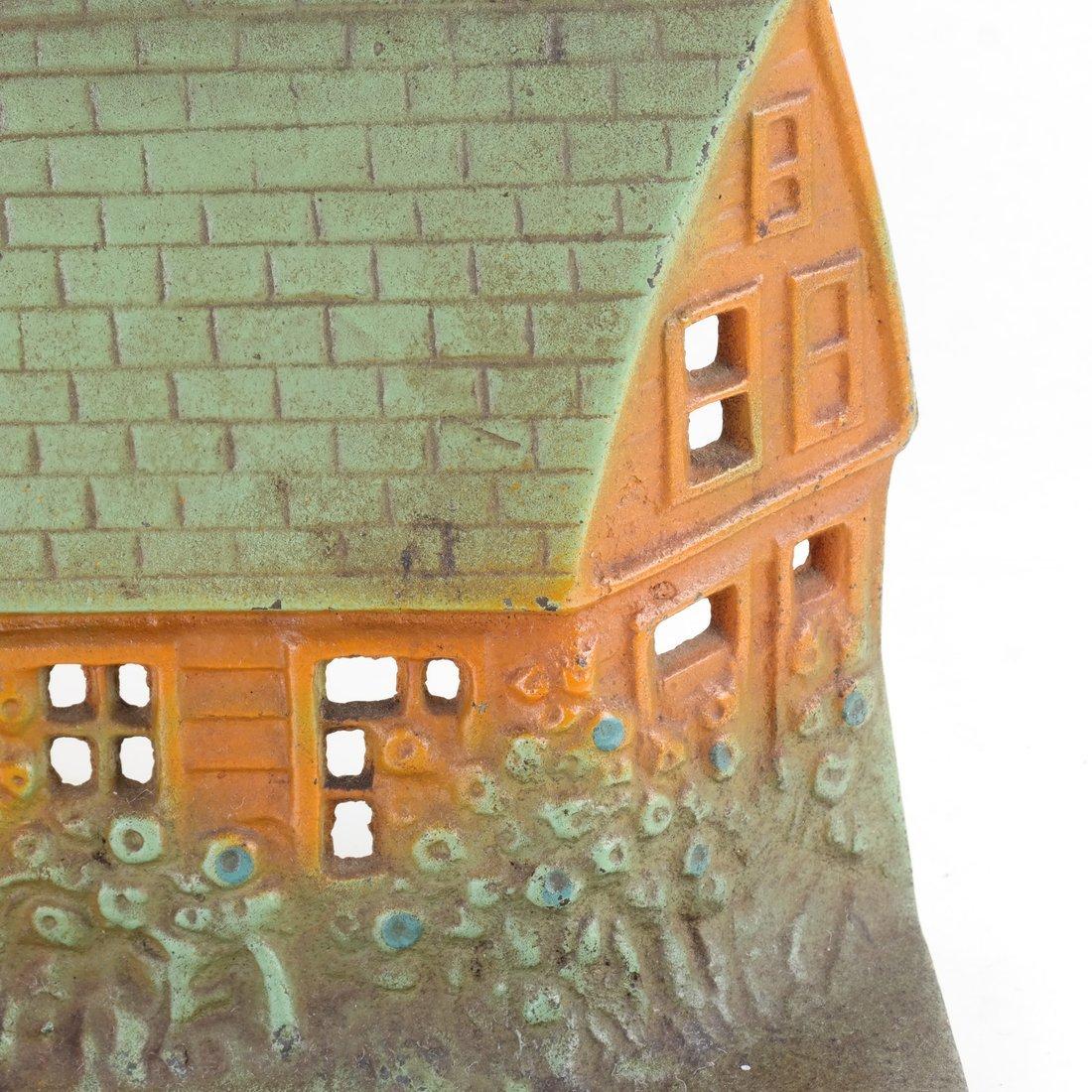Painted Cast Iron Cottage Doorstop - 8
