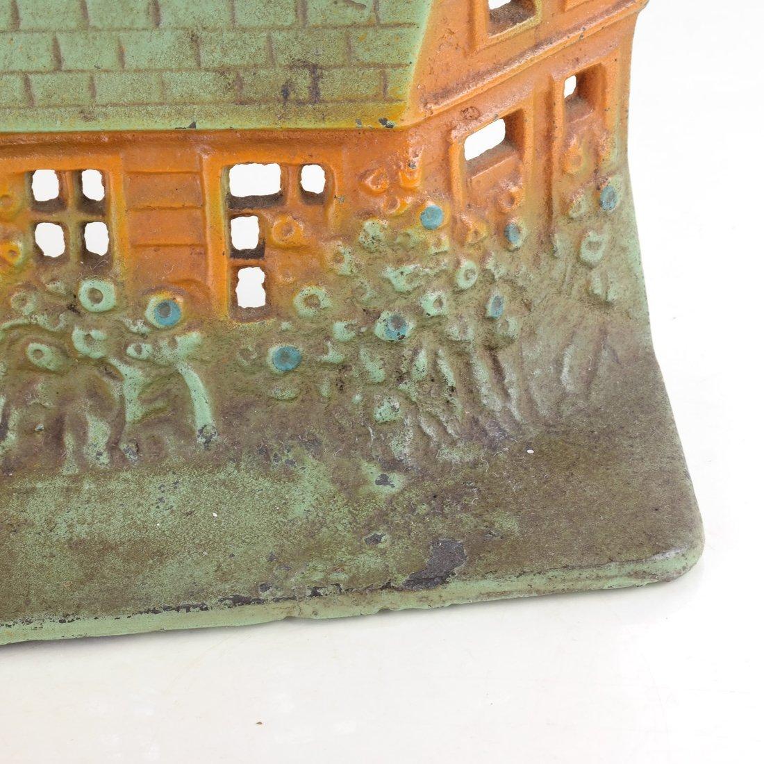 Painted Cast Iron Cottage Doorstop - 9