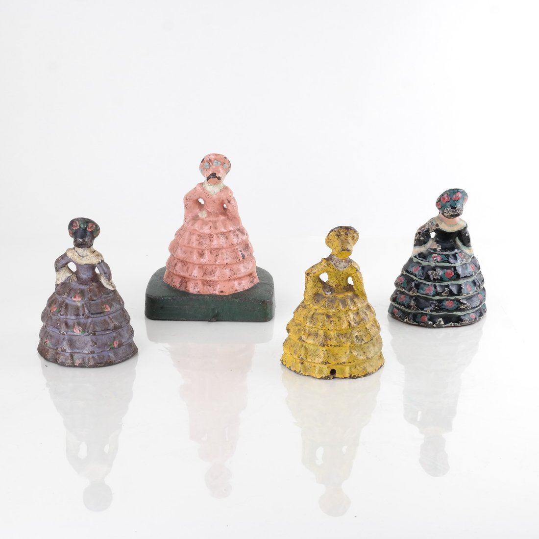 Four Painted Cast Iron Ladies - 3