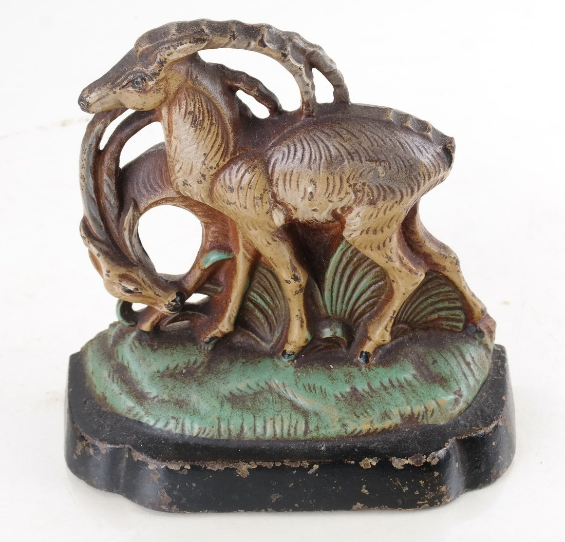 Two Painted Cast Iron Animal Bookends - 10