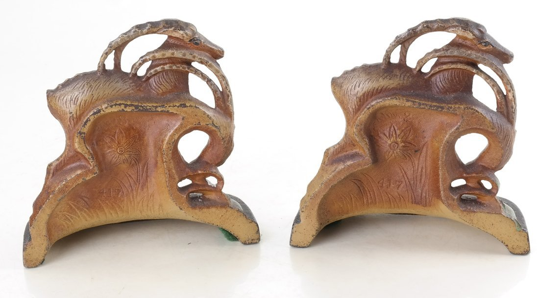 Two Painted Cast Iron Animal Bookends - 3