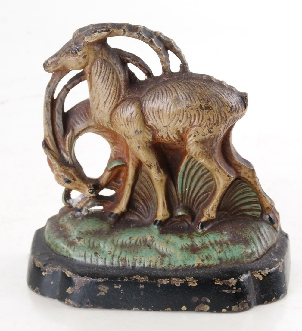 Two Painted Cast Iron Animal Bookends - 7