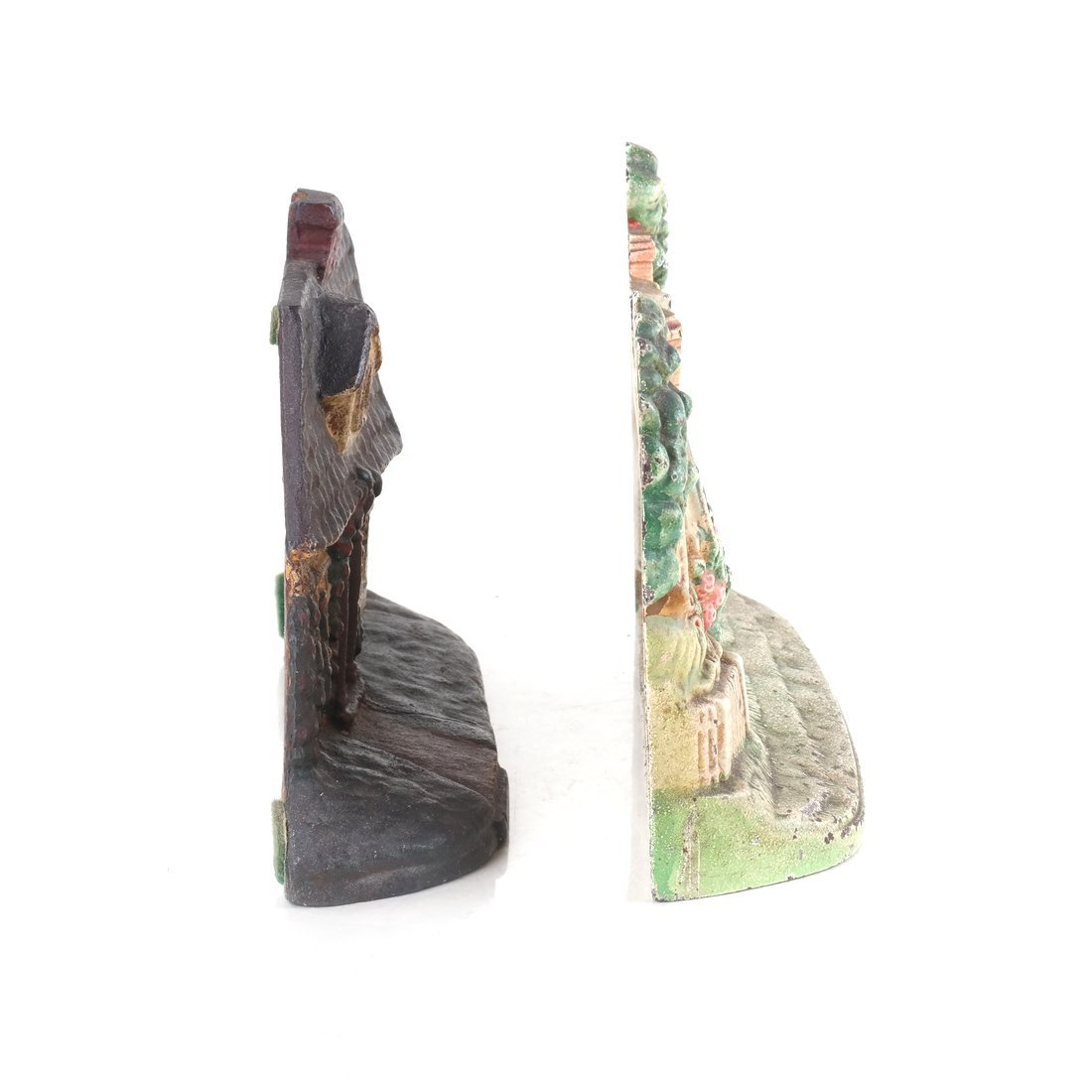 Two Painted Cast Iron Cottage Doorstops - 3