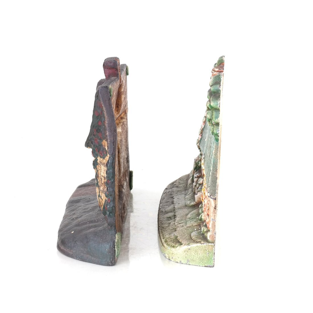 Two Painted Cast Iron Cottage Doorstops - 4