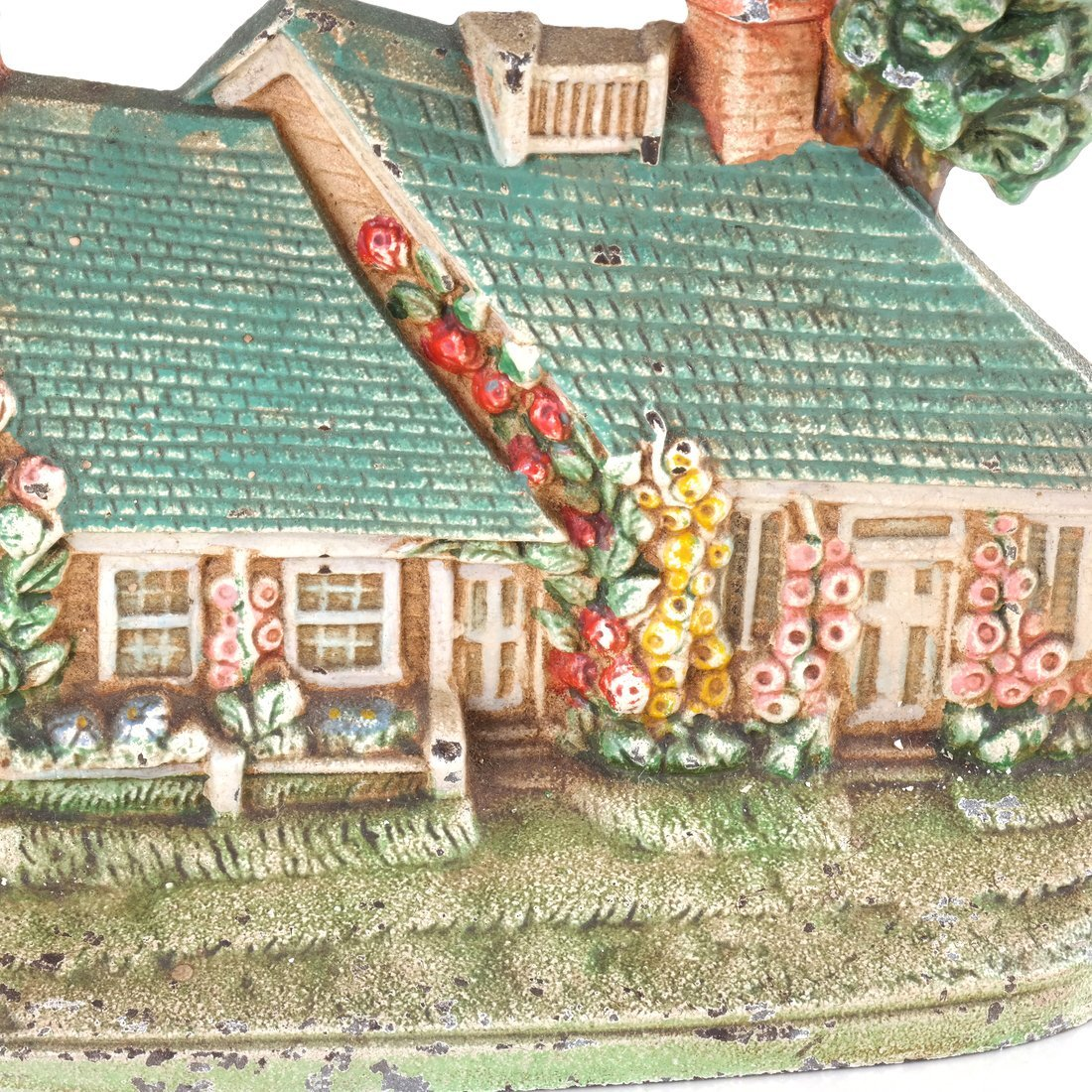 Two Painted Cast Iron Cottage Doorstops - 7
