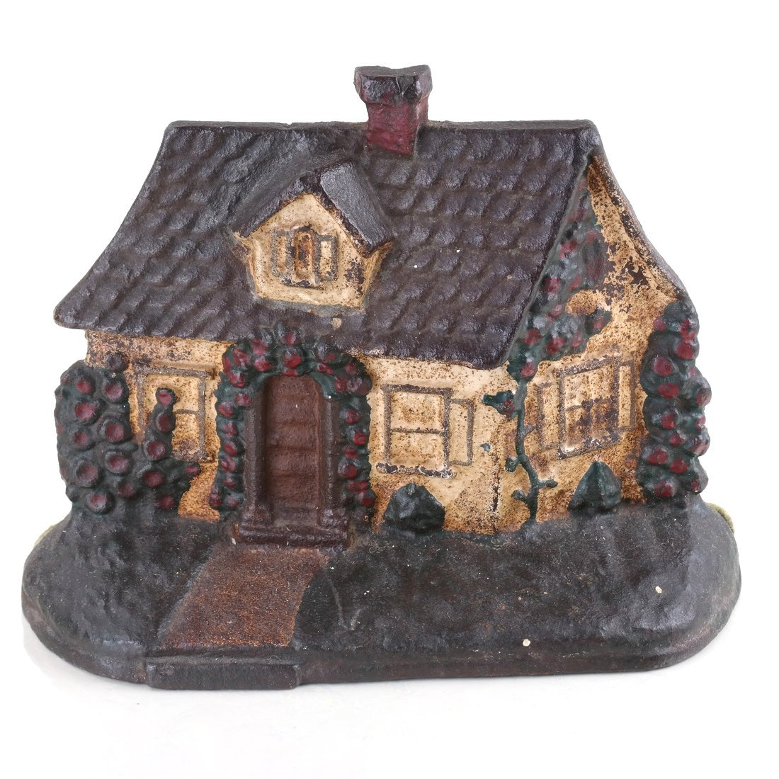 Two Painted Cast Iron Cottage Doorstops - 8