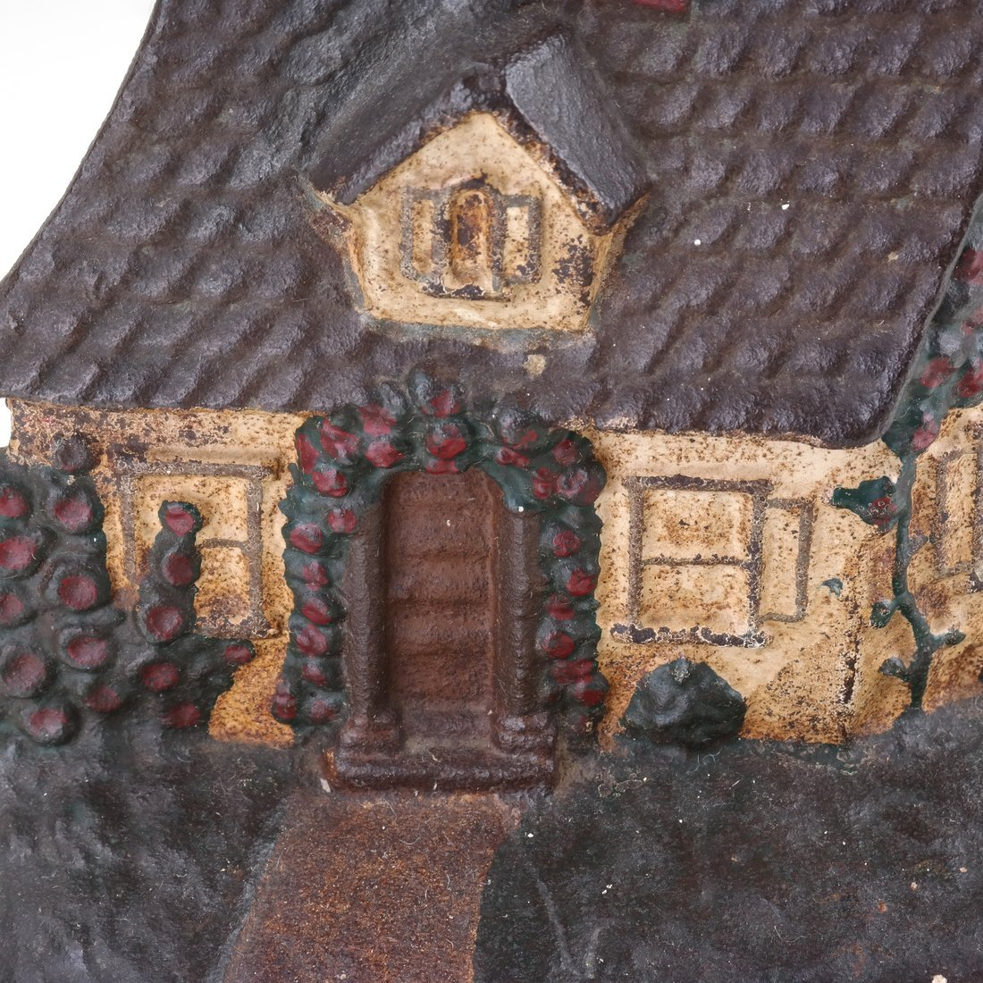 Two Painted Cast Iron Cottage Doorstops - 9