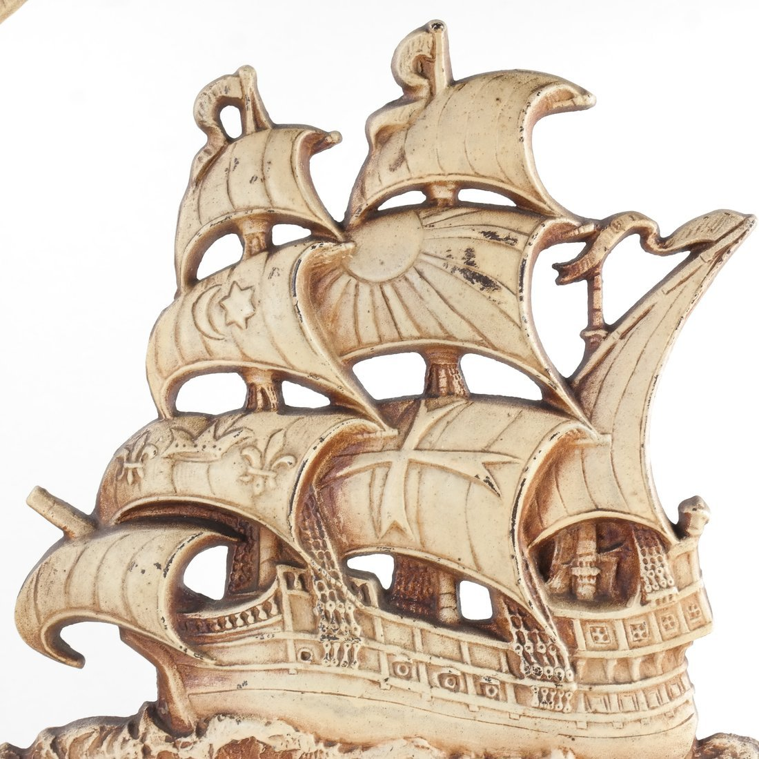 Painted Cast Iron Ship Firescreen - 6
