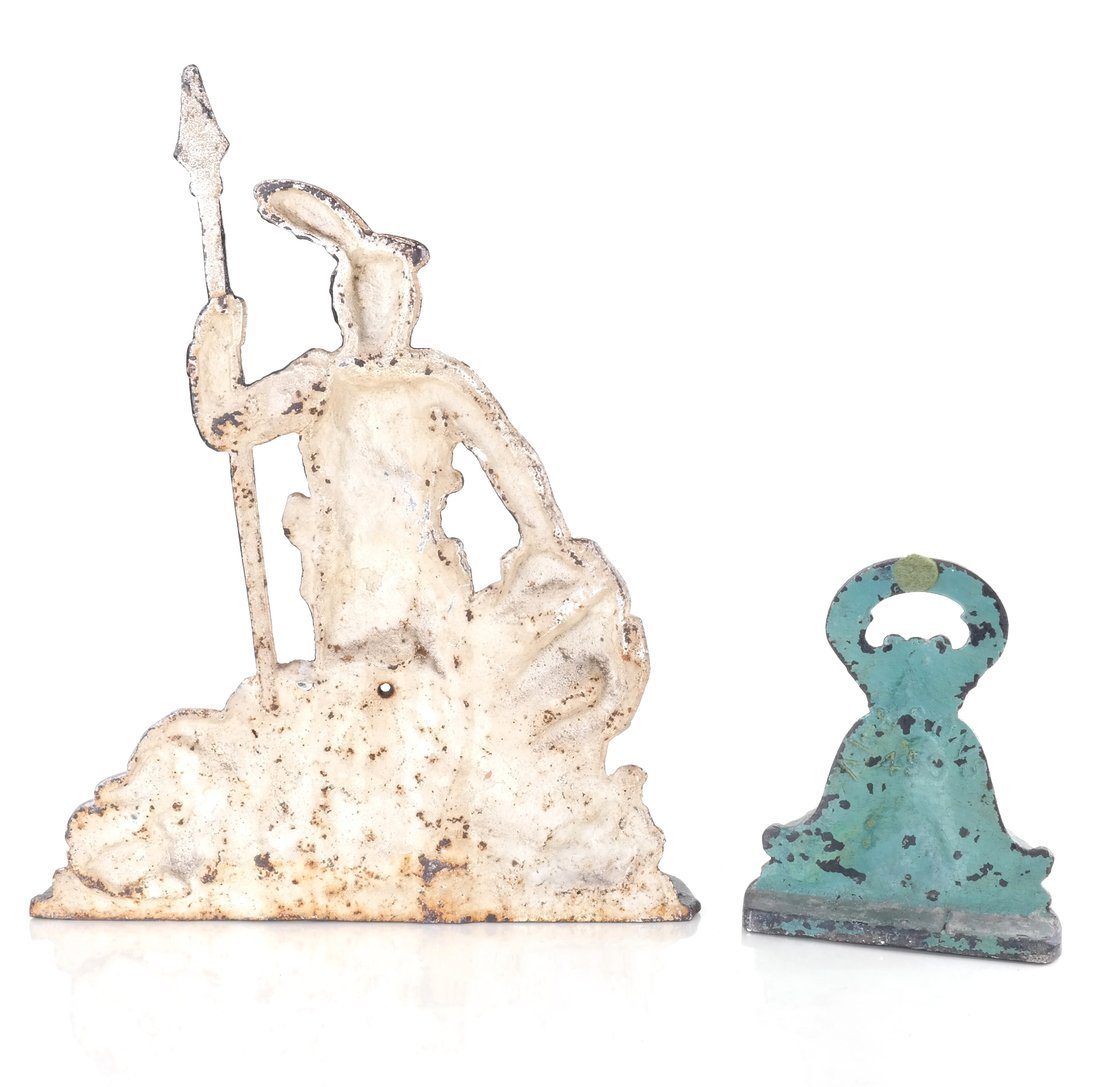 Two Painted Cast Iron Doorstops - 3