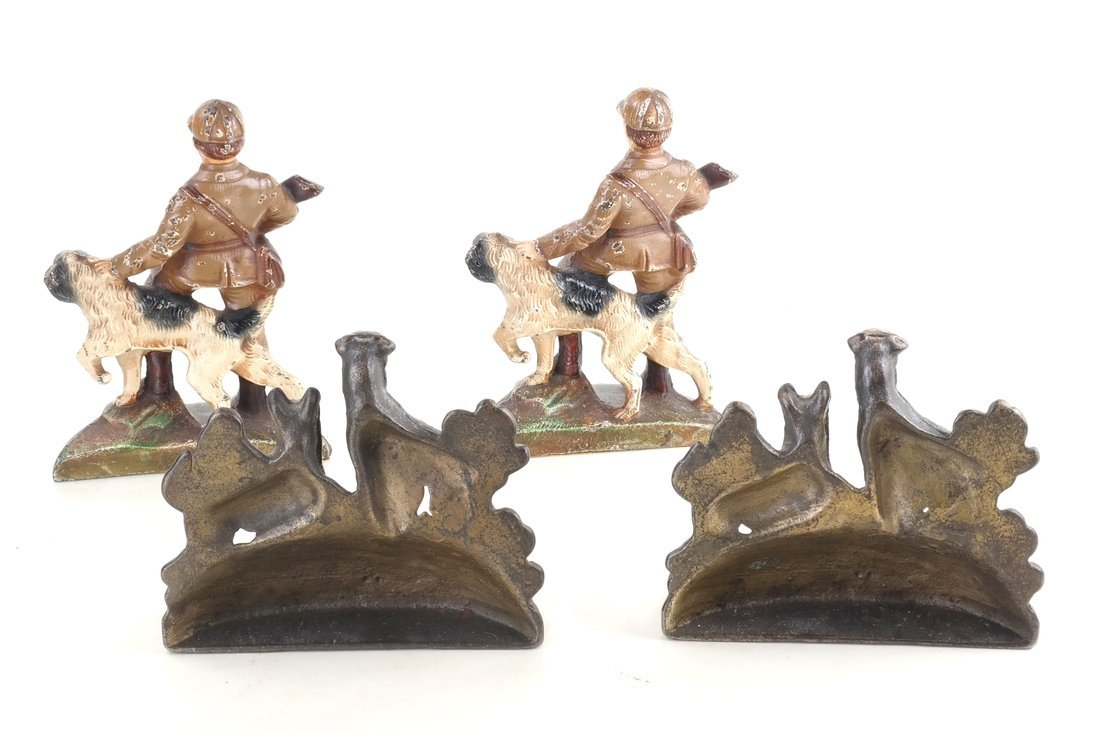 Four Cast Iron Figural Bookends - 3