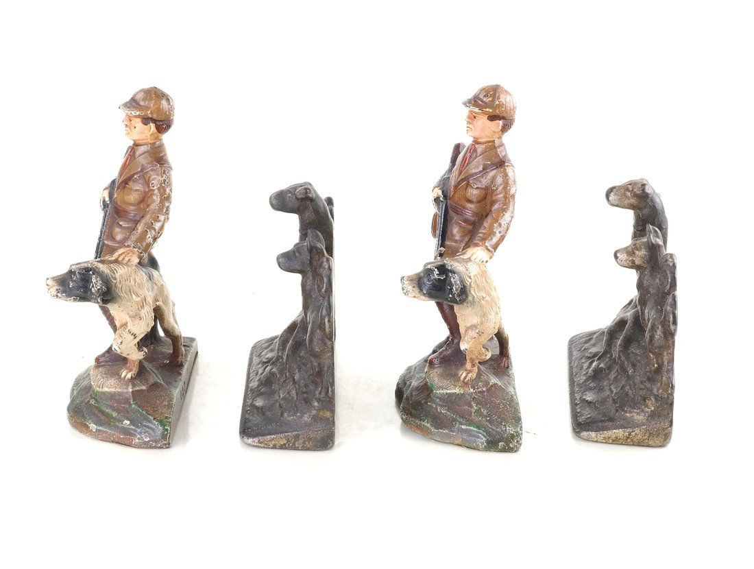 Four Cast Iron Figural Bookends - 4