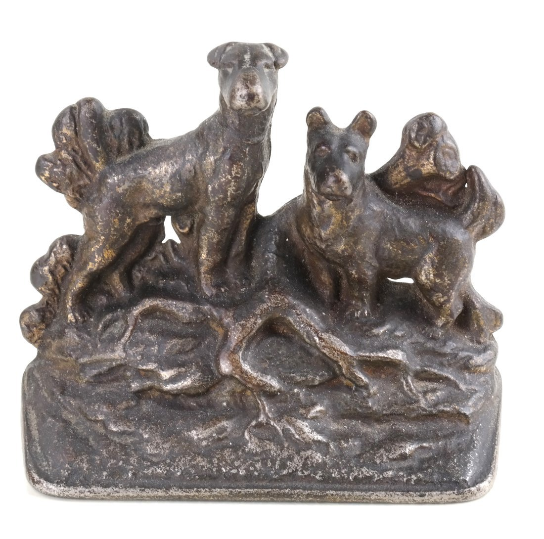 Four Cast Iron Figural Bookends - 9