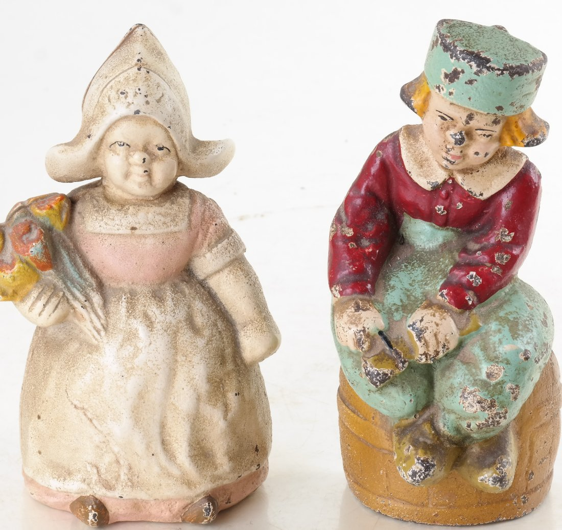 Five Painted Cast Iron Dutch Children - 10