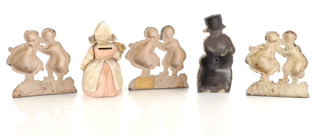 Five Painted Cast Iron Dutch Children - 3