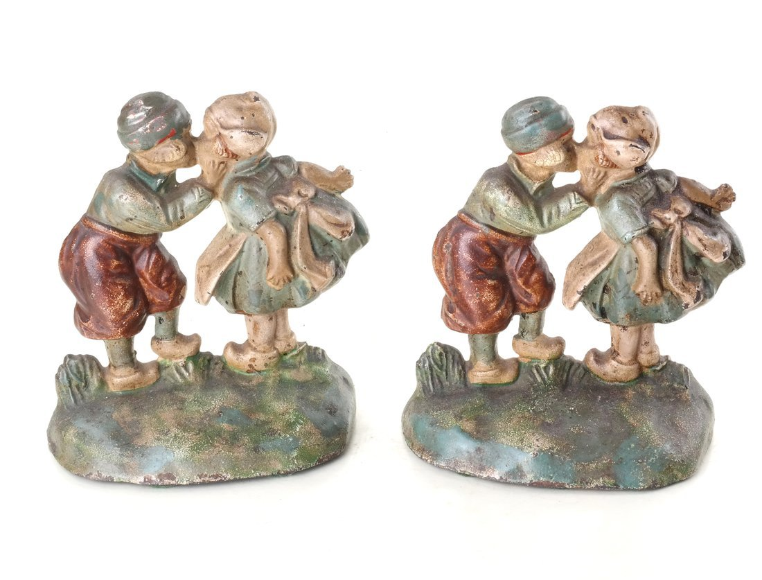 Five Painted Cast Iron Dutch Children - 7