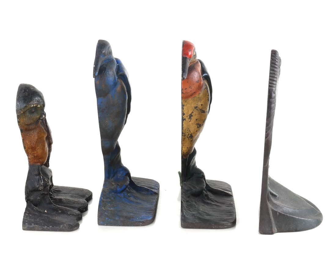 Four Cast Iron Bird Bookends - 4