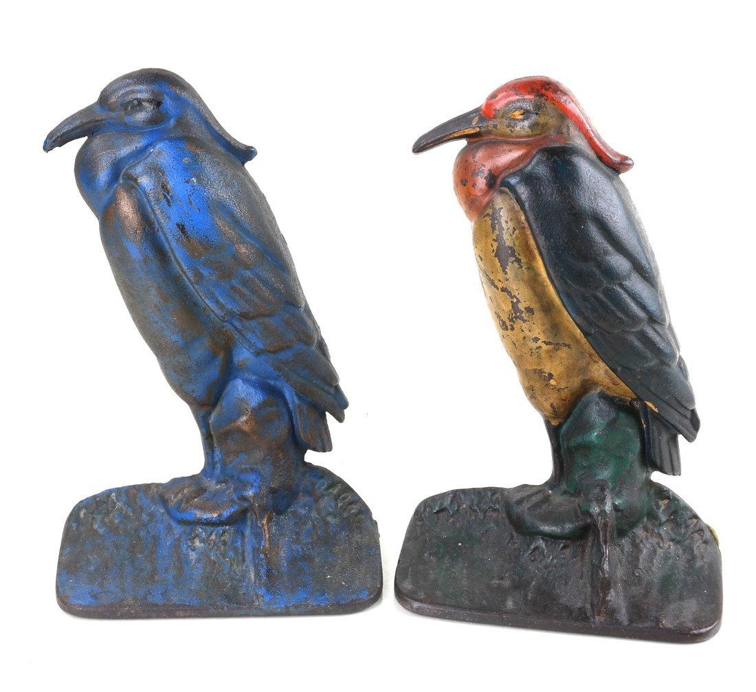 Four Cast Iron Bird Bookends - 6