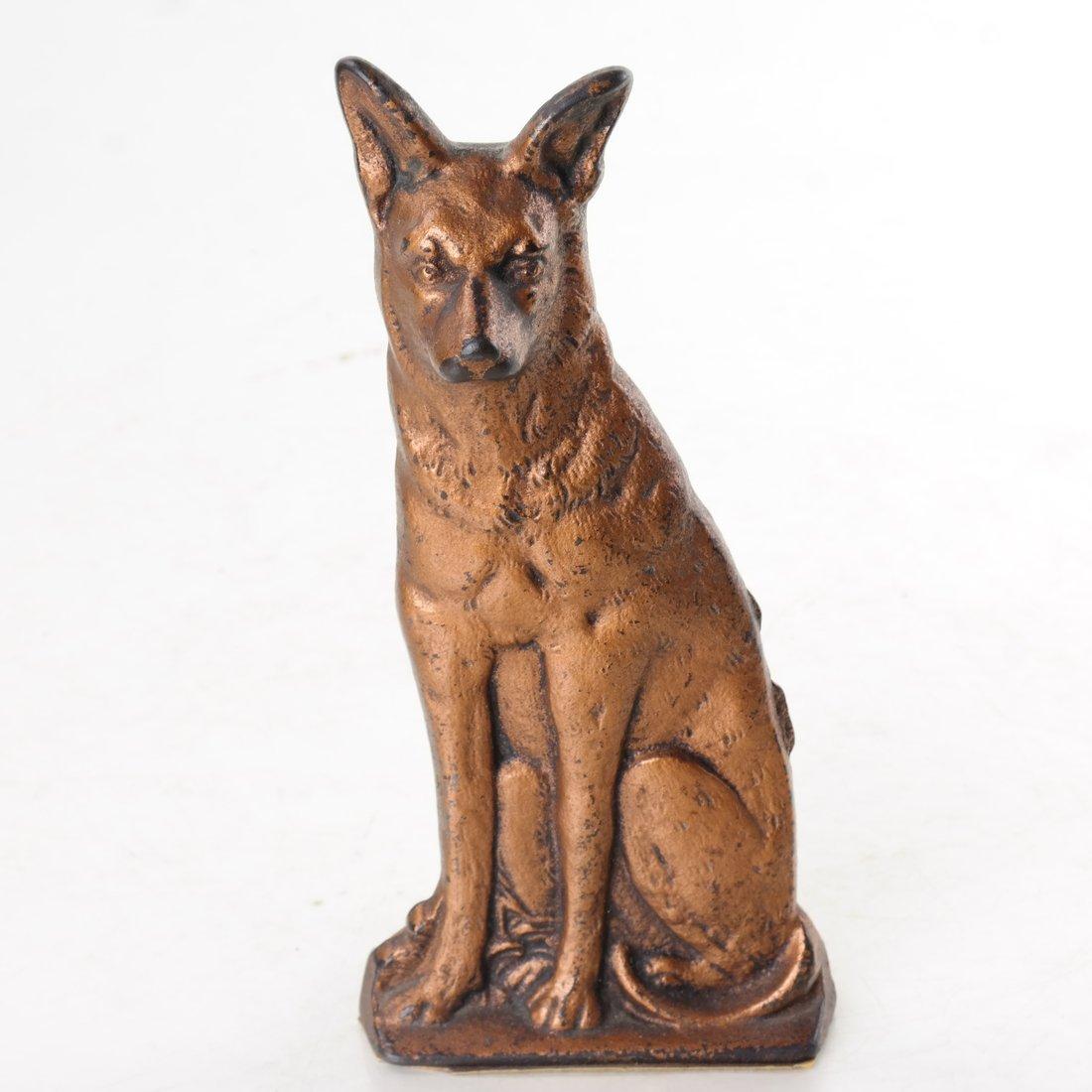 Four Cast Metal Dogs - 2