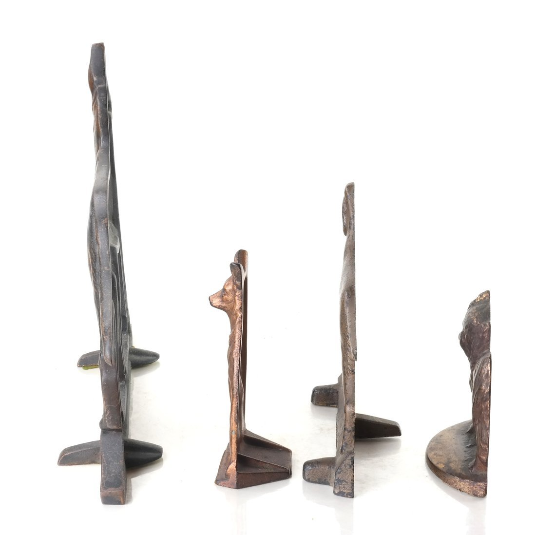 Four Cast Metal Dogs - 6