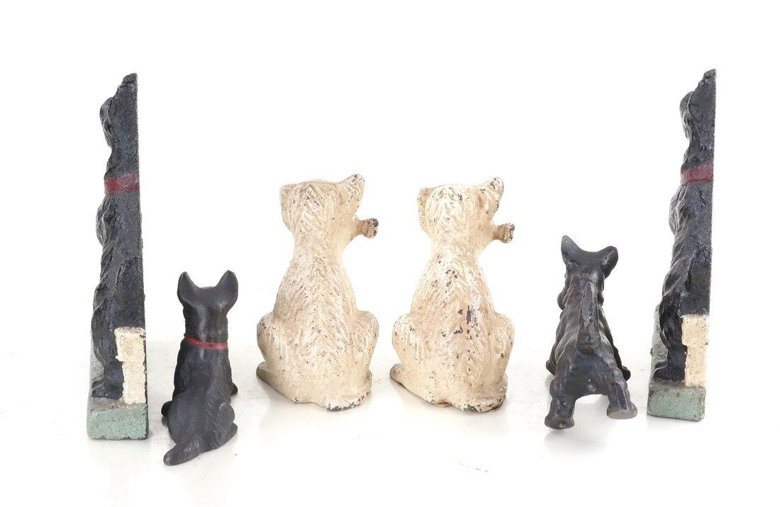 Six Cast Iron Scotties or Terriers - 4