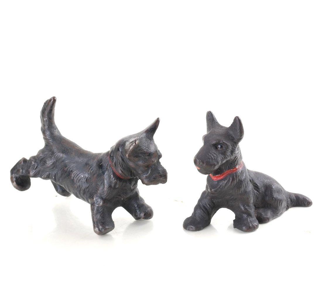 Six Cast Iron Scotties or Terriers - 8