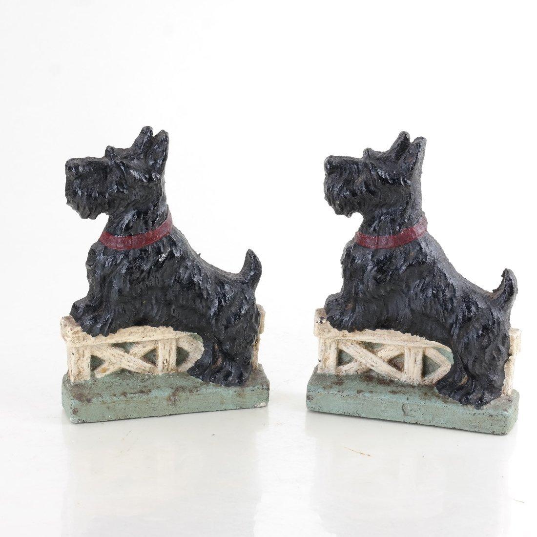Six Cast Iron Scotties or Terriers - 9