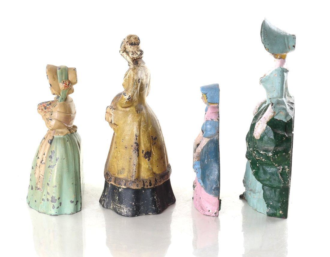 Four Painted Cast Metal Ladies - 4