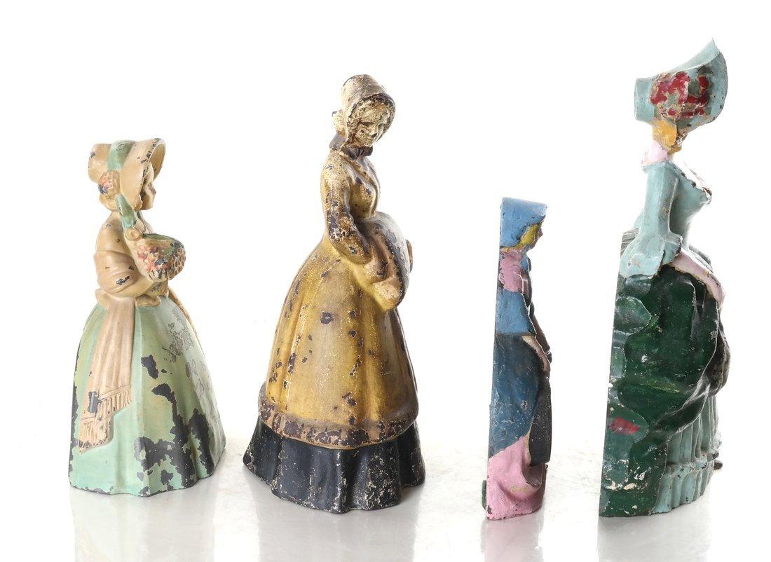 Four Painted Cast Metal Ladies - 5