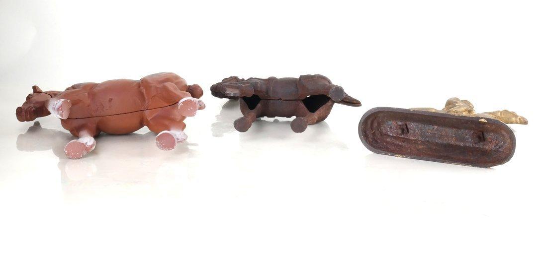 Three Cast Iron Horse Figures - 4