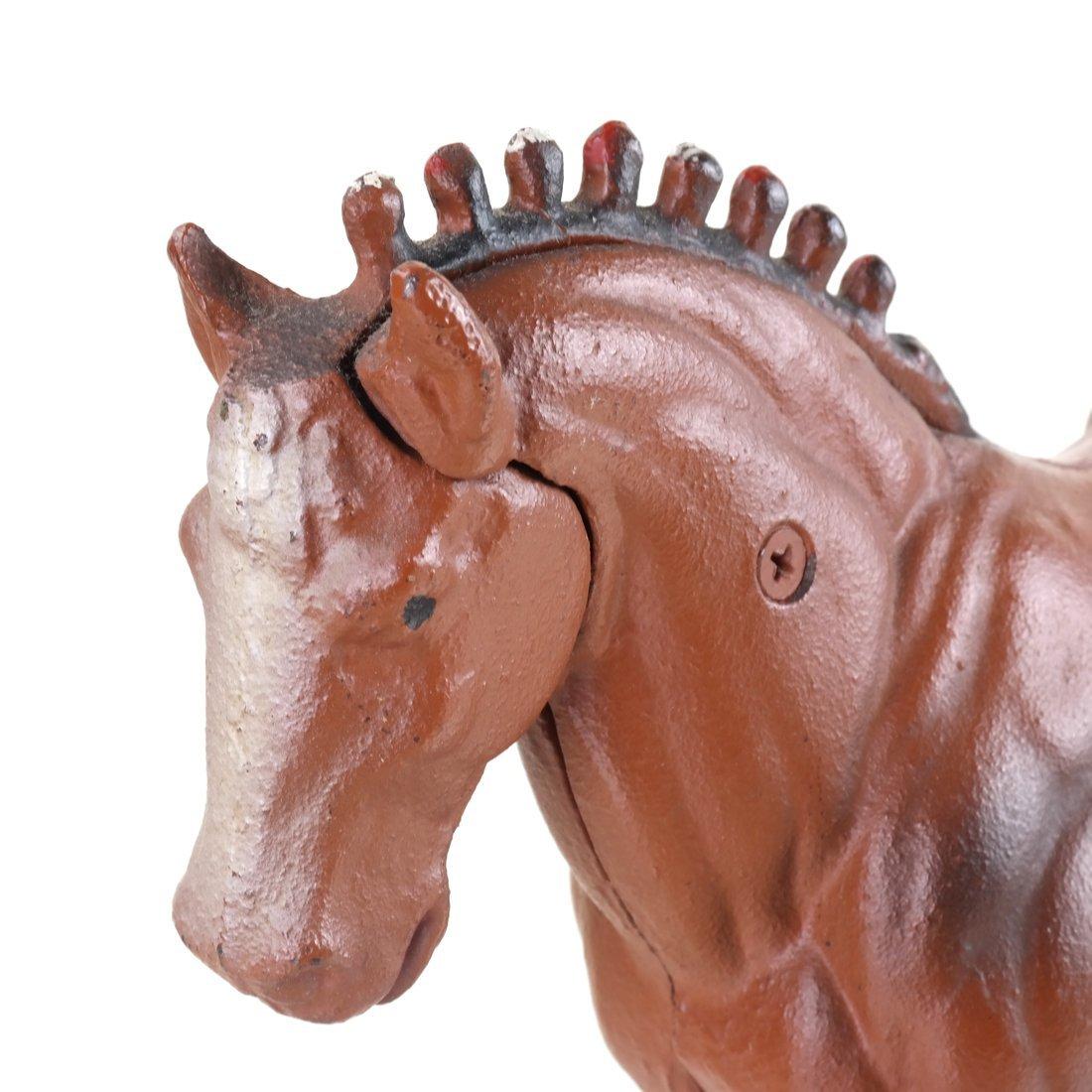 Three Cast Iron Horse Figures - 6